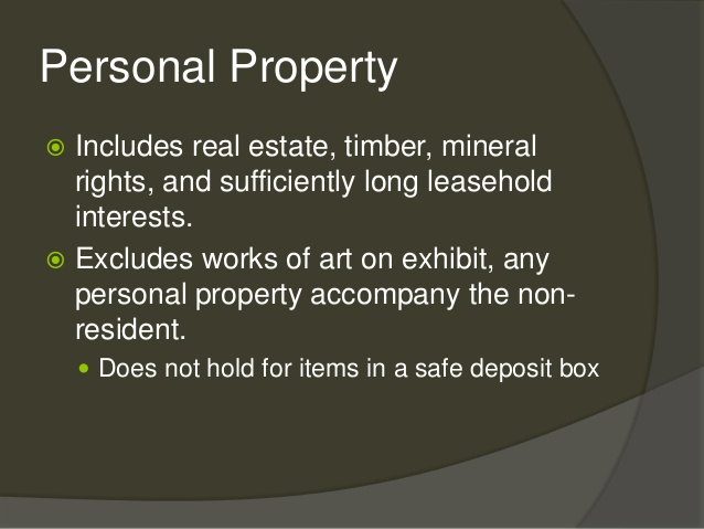 Personal Property Tax Issues – E-File Group – Professional