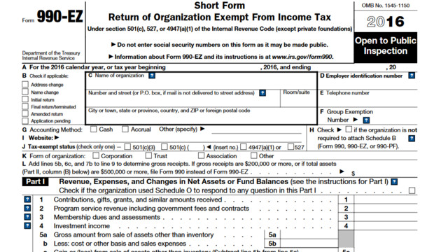 IRS Releases Updated Form 990-EZ